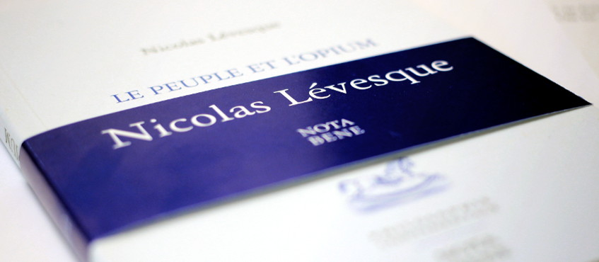 Un nouvel essai signé Nicolas Lévesque