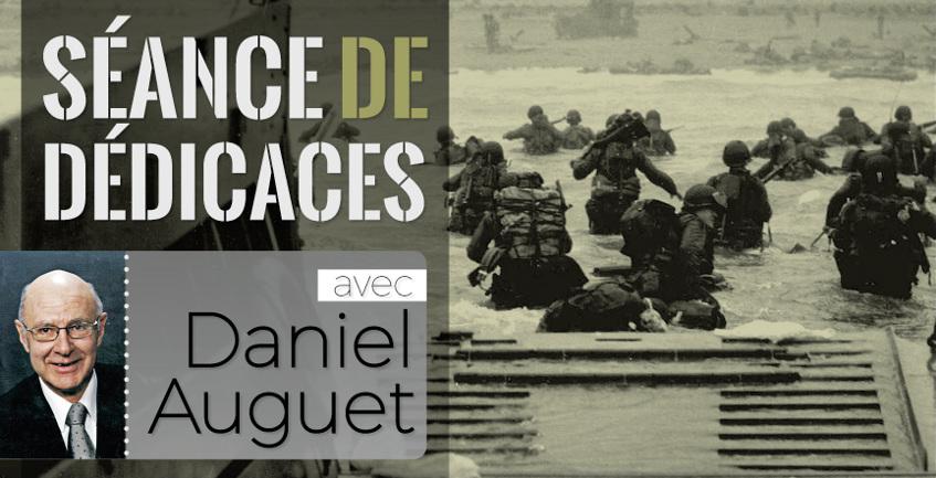 Séance de signatures à la librairie avec Daniel Auguet