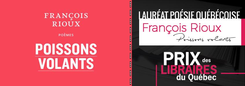 François Rioux remporte le prix des libraires du Québec