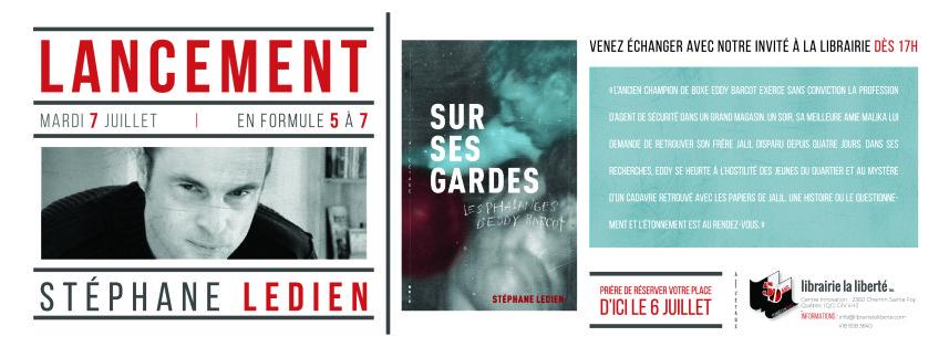 Lancement du nouveau roman de Stéphane Ledien
